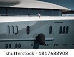 Detail Of Beautiful Superyacht  ...