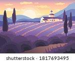 Landscape Sunset In Provence ...