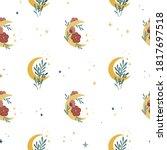 Boho Style Moon Background....