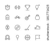 thin line icons for sport....