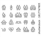 family relationship icons   ... | Shutterstock .eps vector #1817767805