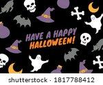 illustration of happy halloween ... | Shutterstock . vector #1817788412