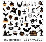 happy halloween magic... | Shutterstock .eps vector #1817791922