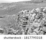 Black And White Limestone Wall  ...