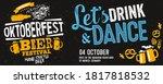 oktoberfest party. beer... | Shutterstock .eps vector #1817818532
