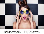 attractive surprised young... | Shutterstock . vector #181785998
