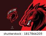 red horse mascot esport logo... | Shutterstock .eps vector #1817866205