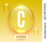 packaging design for vitamin... | Shutterstock .eps vector #1817875355