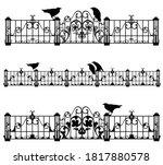 Set Of Antique Style Iron Fence ...