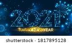 happy new year 2021 banner... | Shutterstock .eps vector #1817895128