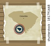south carolina map with stamp... | Shutterstock .eps vector #181791668
