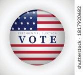 voting concept. presidential... | Shutterstock .eps vector #1817920682