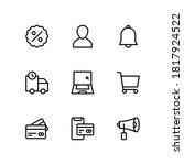 simple set of e commerce line... | Shutterstock .eps vector #1817924522