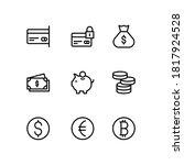 money vector line icons.... | Shutterstock .eps vector #1817924528
