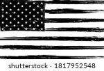 vintage grunge usa black and... | Shutterstock . vector #1817952548