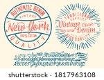 handwritten calligraphic...   Shutterstock .eps vector #1817963108