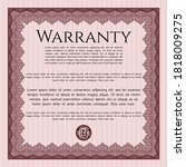 red warranty template. nice...   Shutterstock .eps vector #1818009275