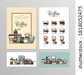 coffee shop menu. types of... | Shutterstock .eps vector #1818052475
