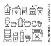 coffee infographic. coffee line ... | Shutterstock .eps vector #1818052478