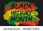 black history month. celebrated ... | Shutterstock . vector #1818071465