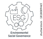 esg environmental social... | Shutterstock .eps vector #1818089465