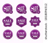 sale banner and label price...   Shutterstock .eps vector #1818096512