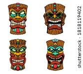 s t of illustrations of tiki... | Shutterstock .eps vector #1818119402