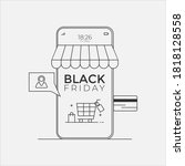 black friday sale online store... | Shutterstock .eps vector #1818128558