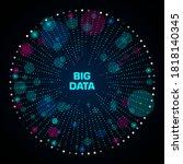 big data visualization.... | Shutterstock .eps vector #1818140345