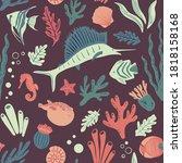 Sealife Seamless Pattern....