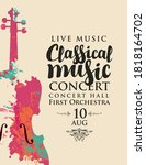 poster of a classical music... | Shutterstock .eps vector #1818164702