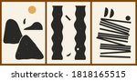 set of three abstract... | Shutterstock .eps vector #1818165515