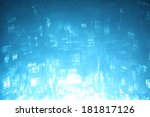 blue lights background | Shutterstock . vector #181817126
