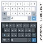 smartphone keyboard in light...