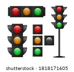 traffic light. continued... | Shutterstock .eps vector #1818171605