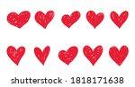 set of hand drawn doodle... | Shutterstock .eps vector #1818171638