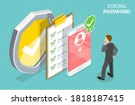 strong password  minimal... | Shutterstock .eps vector #1818187415