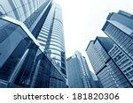 modern glass silhouettes of... | Shutterstock . vector #181820306