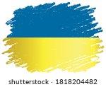 flag of ukraine  ukraine.... | Shutterstock .eps vector #1818204482