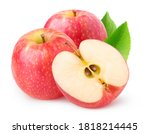 Isolated Apples. Two Whole Pink ...