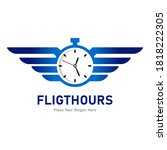 flight hours logo vector...   Shutterstock .eps vector #1818222305