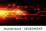 abstract futuristic digital... | Shutterstock .eps vector #1818246545