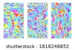 Psychedelic Multicolored Hippie ...