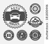 car auto service labels badges... | Shutterstock .eps vector #181830446