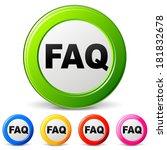vector illustration of faq...   Shutterstock .eps vector #181832678