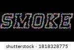 smoke  3d illustration of the... | Shutterstock . vector #1818328775