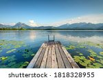 Beautiful Wooden Jetty On A...
