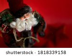 Cheerful Santa With Curly White ...