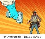 duel with the coronavirus.... | Shutterstock .eps vector #1818346418