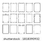 ornamental borders. vintage... | Shutterstock .eps vector #1818390932